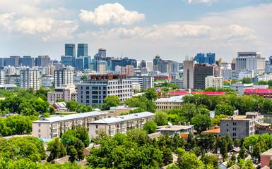 Fotobehang Beijing City view of Beijing from Jingshan park