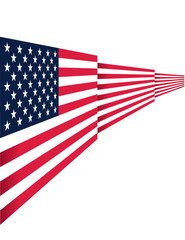 Vector - Abstract USA flag design on isolated background