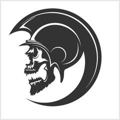 Spartan Skull and Helmet silhouette.