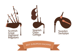 European Bagpipes Set