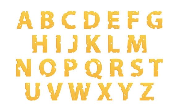 Alphabet Made of Cheese