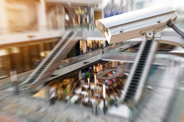 CCTV or surveillance camera  recording inside the shopping mall to the various internal security.