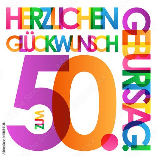 Herzlichen Gluckwunsch Zum 50 Geburtstag Karte Stock Image And