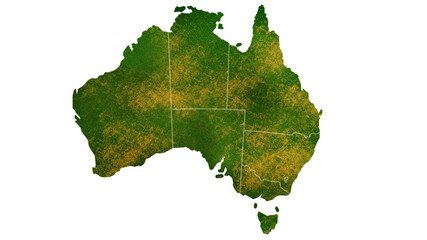 Australia tropical texture map