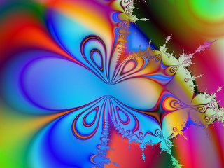 Butterfly shaped fractal image