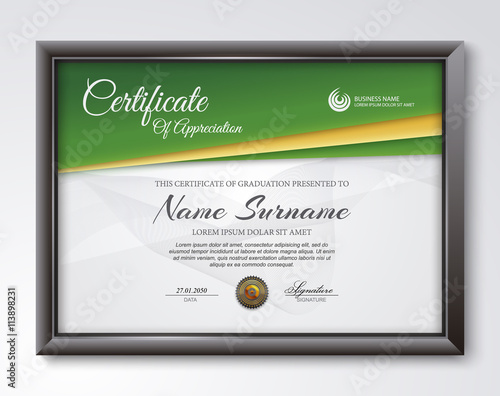 quotqualification certificate blank templatequot stock image and