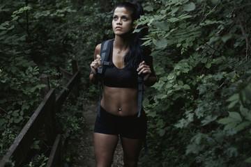 Woman Exploring the Jungle