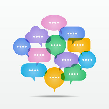 Information/Knowledge/Media/Discussion_Speech balloons #Vector Graphic