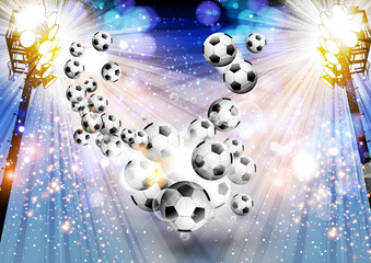 Football background soccer background with light easy editable