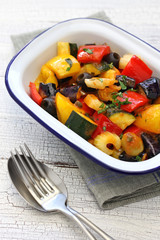 caponata, italian sicilian eggplant aubergine vegetable stew