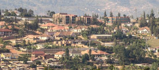 Houses on the hills of Kigali