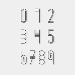 Original ethnic numerals set.