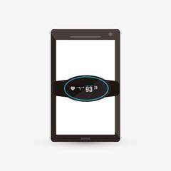 Wearable technology design. Gadget icon. Flat illustration, vector