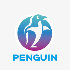 Abstract penguin logo. Vector penguin logo design template. Logo template editable for your business.