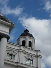 White catholic church  against the sky