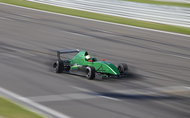 Motion blur of racing car