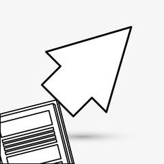 cursor design. Colorfull illustration, vector graphic