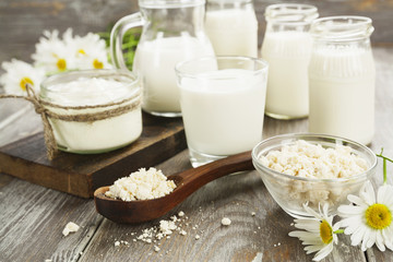 Dairy products and camomile