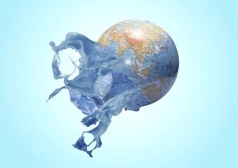 Splash planeta terra