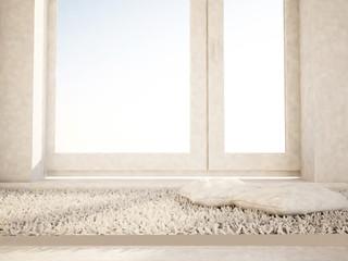 carpet near the window, 3d