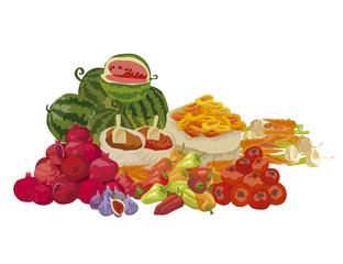 vector illustration of fresh food