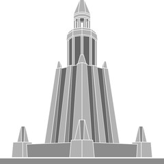 stencil of alexandria lighthouse. vector illustration
