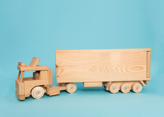 Wooden truck on