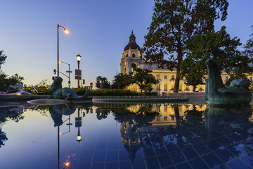 The beautiful Pasadena City Hall near Los Angeles, California