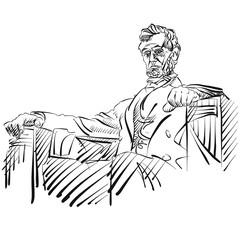 Abraham Lincoln Seienansicht Portrait