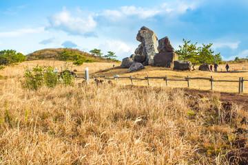 View of Seopjikoji Mountain Jeju Island, South Korea