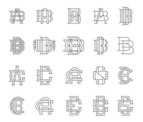 Typographic Monograms Black on White
