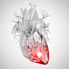 medically accurate 3d illustration of the heart attack