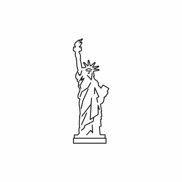 Statue of liberty icon, outline style