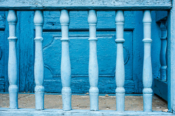 old painted Blue bars