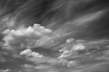 Photo scenic sky in black and white, abstract nature background