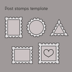 Set of post stamp template
