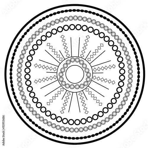 Relaxing Coloring Page With Mandala For Kids And Adults Art Therapy Meditation Book