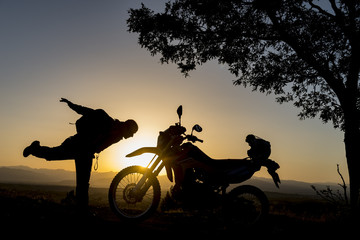 motorsiklete saygı konsepti