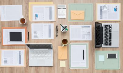 Business team desktop