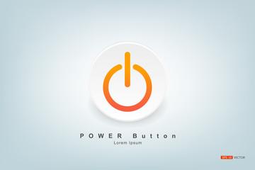 Symbol, Power button, Vector EPS 10