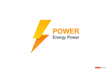 power energy symbol on whitw backgroung, EPS 10 VECTOR.