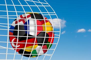 a view of a football ball in european football championship