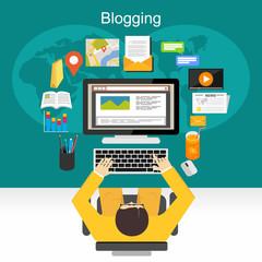 Blogging illustration concept.