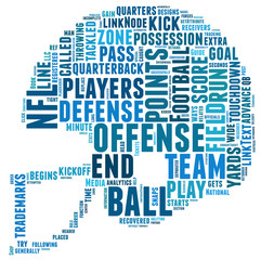 silhouette helmet  football  american football silhouette wordart word cloud clouds text symbol icon concept image white background illustration