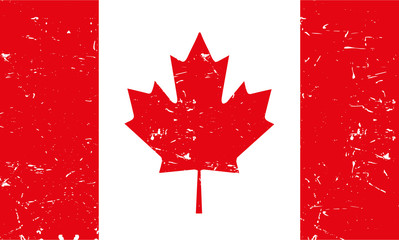 Light Canadian flag with texture