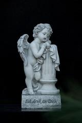 Engel mit Text - ich denk an Dich.