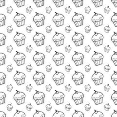 cupcake doodle background