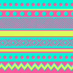 geometric seamless pattern with dots and strips