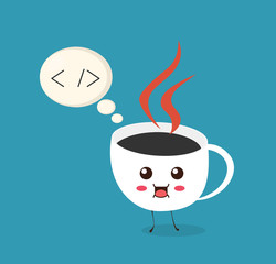 Let`s write some java code. Cup of coffee is thinking about coding and development