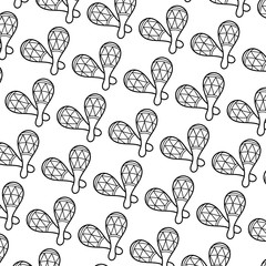 Maracas Music Instrument doodle background